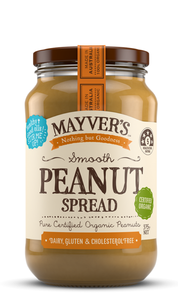 Mayvers-Peanut-Spread-Organic-Smooth-375g