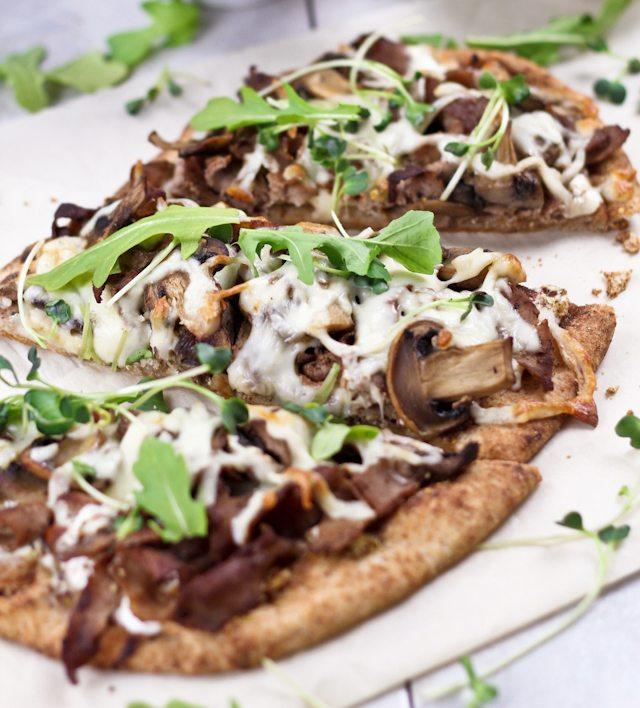 Harissa Pancetta Breakfast Pizza Recipe — Dishmaps