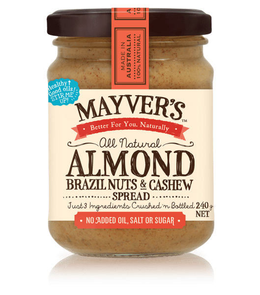 MAYVER'S ALMOND BRAZIL NUTS AND CASHEW SPREAD