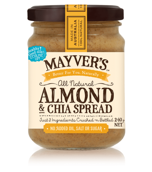MAYVERS ALMOND AND CHIA SPREAD