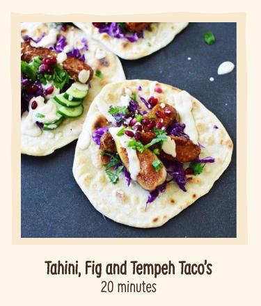 Tempeh Tahini Tacos