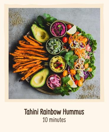 Rainbow Hummus
