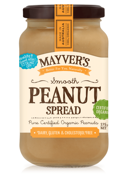 MAYVERS ORGANIC PB SMOOTH 375g
