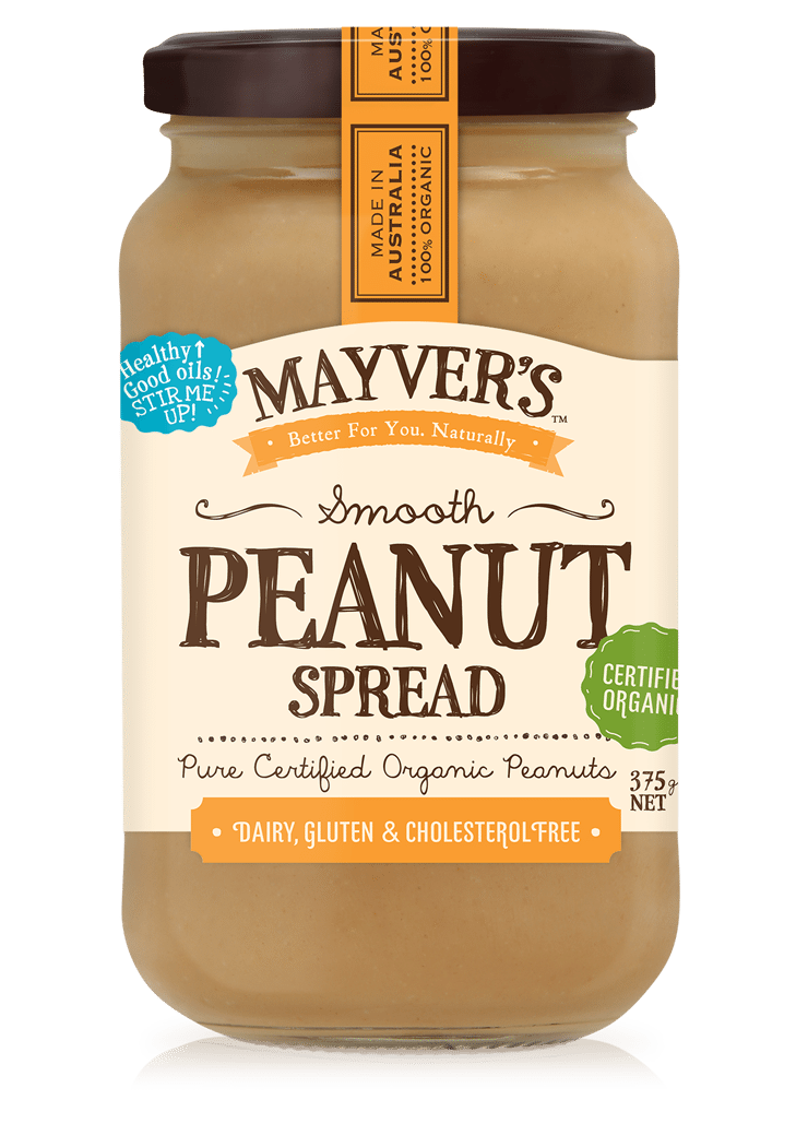 MAYVERS ORGANIC PEANUT BUTTER SMOOTH 375g