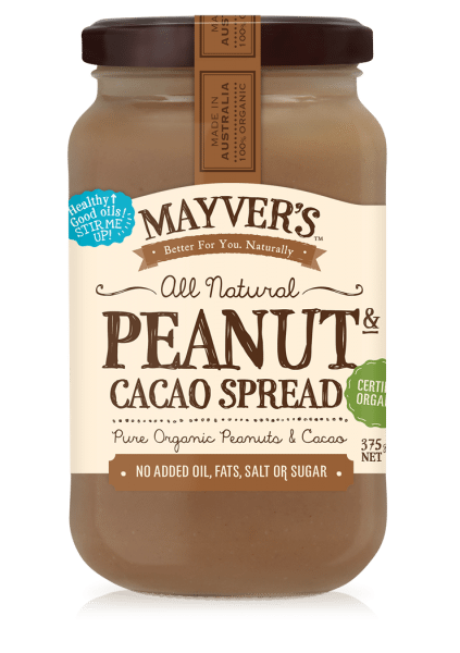 MAYVERS ORGANIC PEANUT BUTTER CACAO 375g