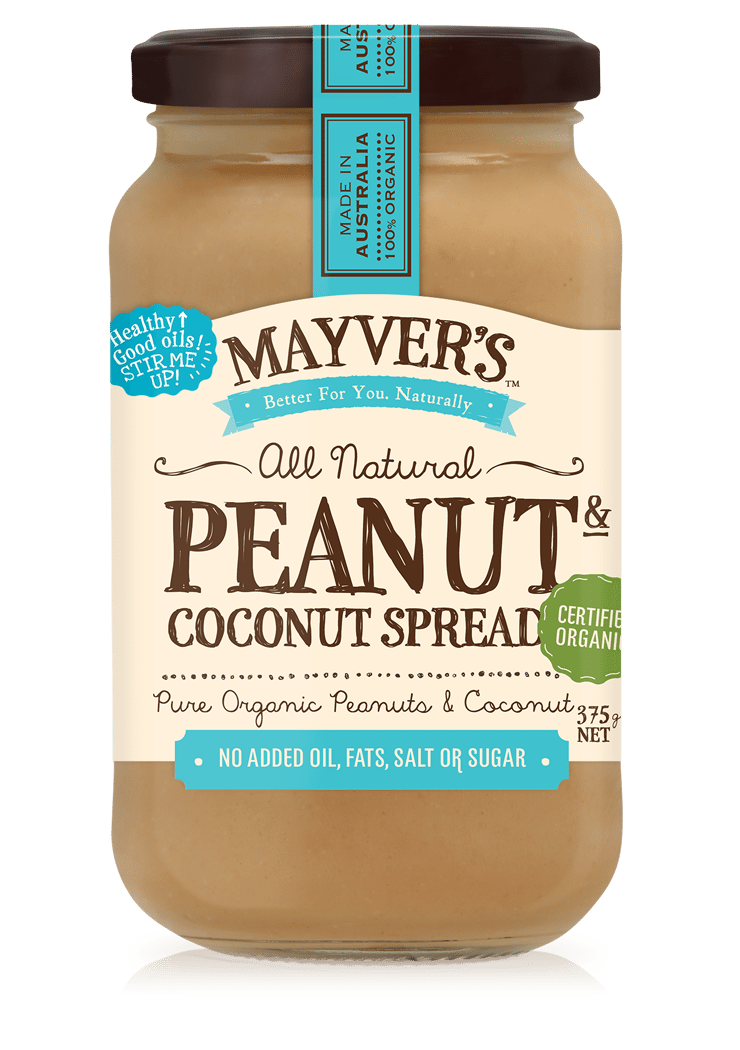 MAYVERS ORGANIC PEANUT BUTTER AND COCONUT 375g