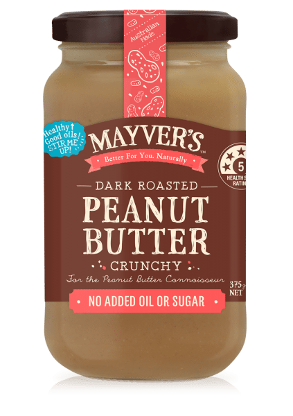 MAYVERS PEANUT BUTTER DARK ROASTED CRUNCHY 375g