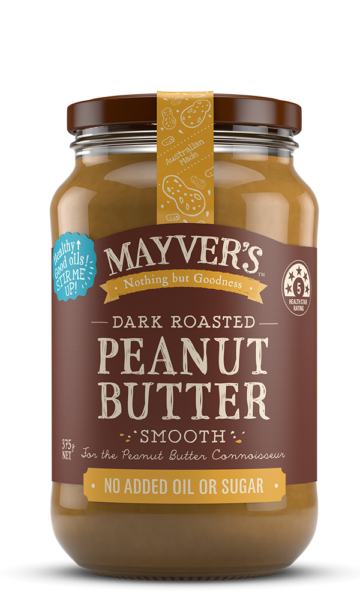 Mayvers-Peanut Butter-Dark-Roasted-Smooth-375g