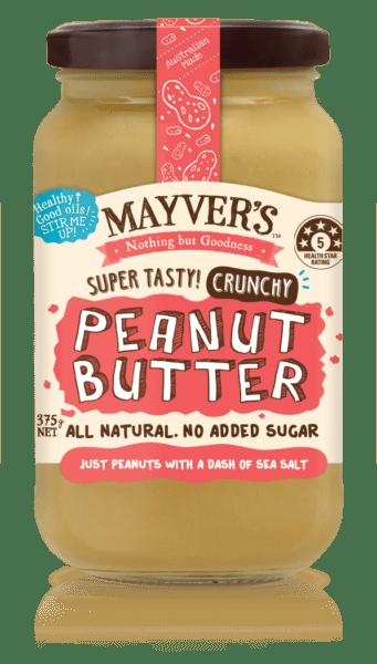 MAYVER'S Peanut Butter CRUNCHY 375g