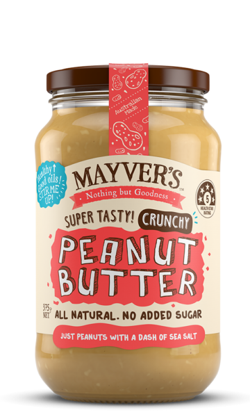 Mayvers-Peanut Butter-Crunchy-375g
