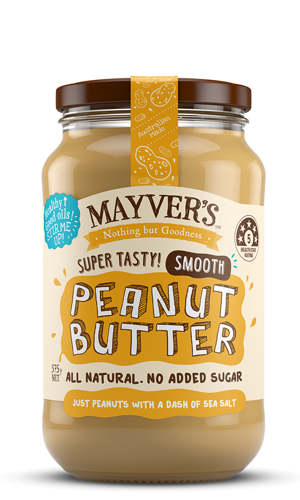 Mayvers-Peanut Butter-Smooth-375g