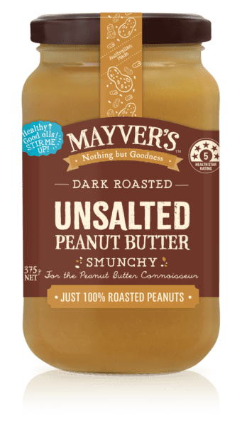 Mayver's Dark Roasted Unsalted Peanut Butter