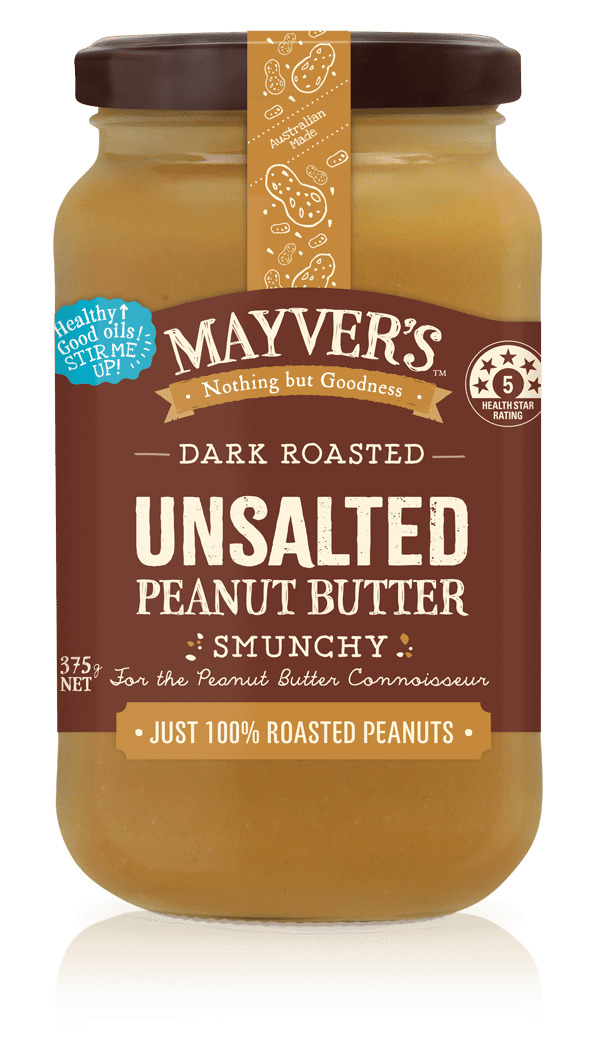Mayver's Dark Roasted Unsalted Peanut Butter