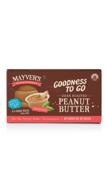 Mayver's Goodness to go Dark Roasted Peanut Butter