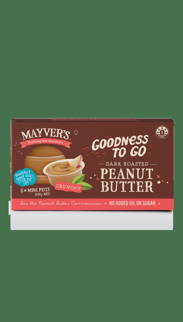 Mayver's Goodness to go Dark Roasted Peanut Butter