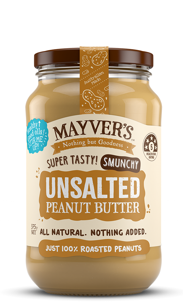 Mayvers-Peanut Butter-Unsalted-375g