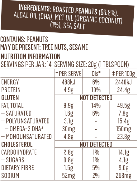 Super peanut butter Omega-3-Label-NIP